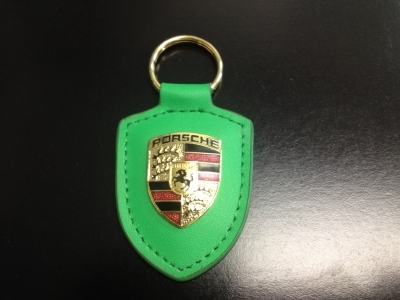 Porsche Crest Keyring - Hybrid Green